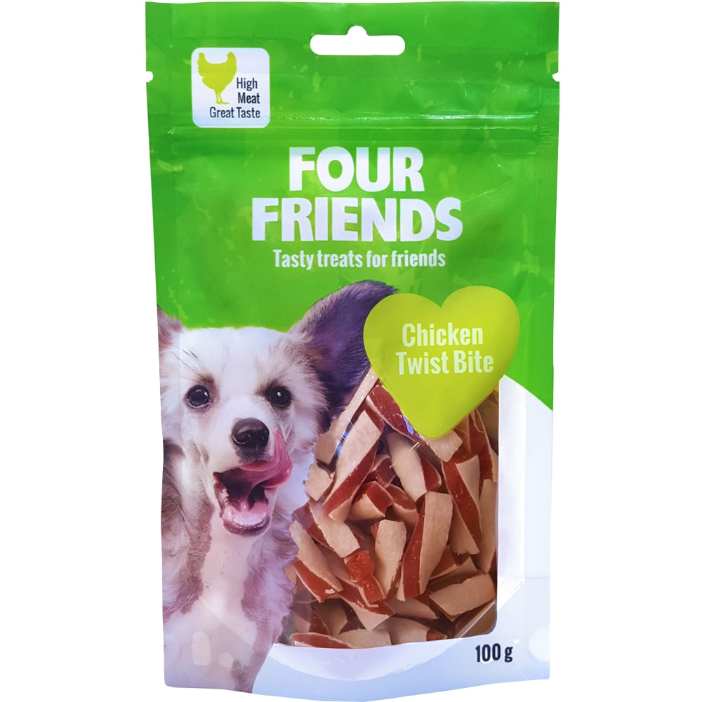 Hundegodbidder  Chicken Twist Bite 100 g FourFriends