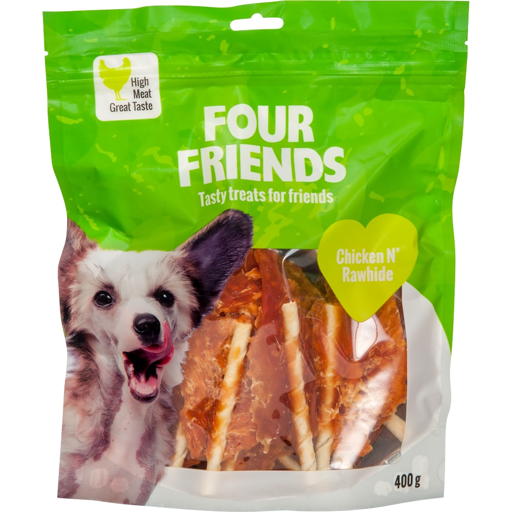 Hundegodbidder  Chicken N´Rawhide 400 g FourFriends