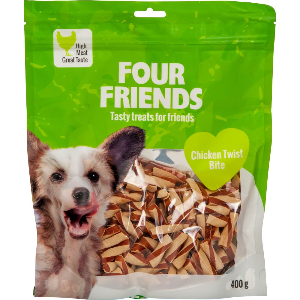 Hundegodbidder  Chicken Twist Bite 400 g FourFriends