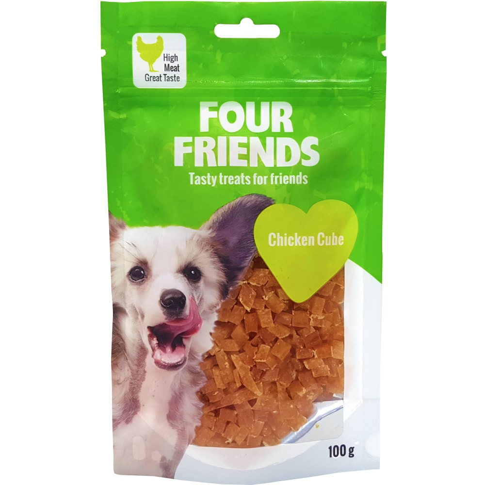 Hundegodbidder  Chicken Cube 100 g FourFriends
