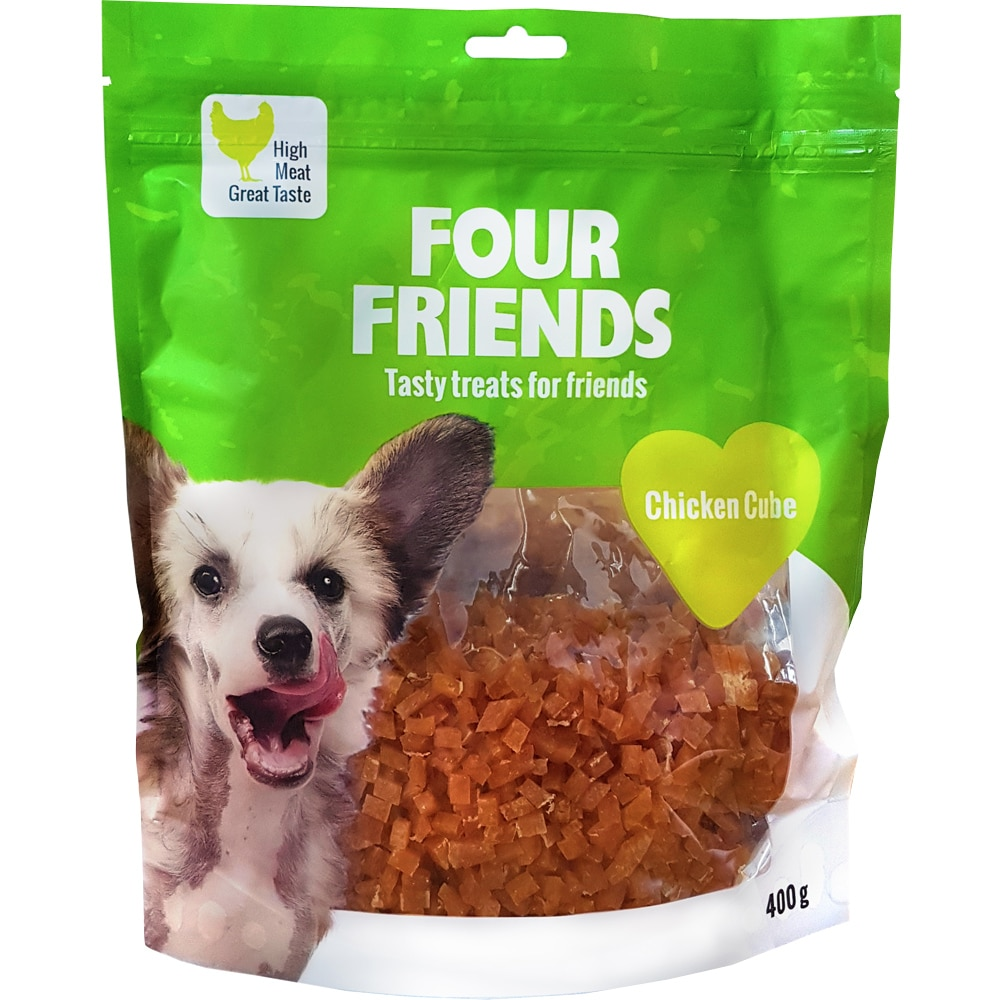 Hundegodbidder  Chicken Cube 400 g FourFriends