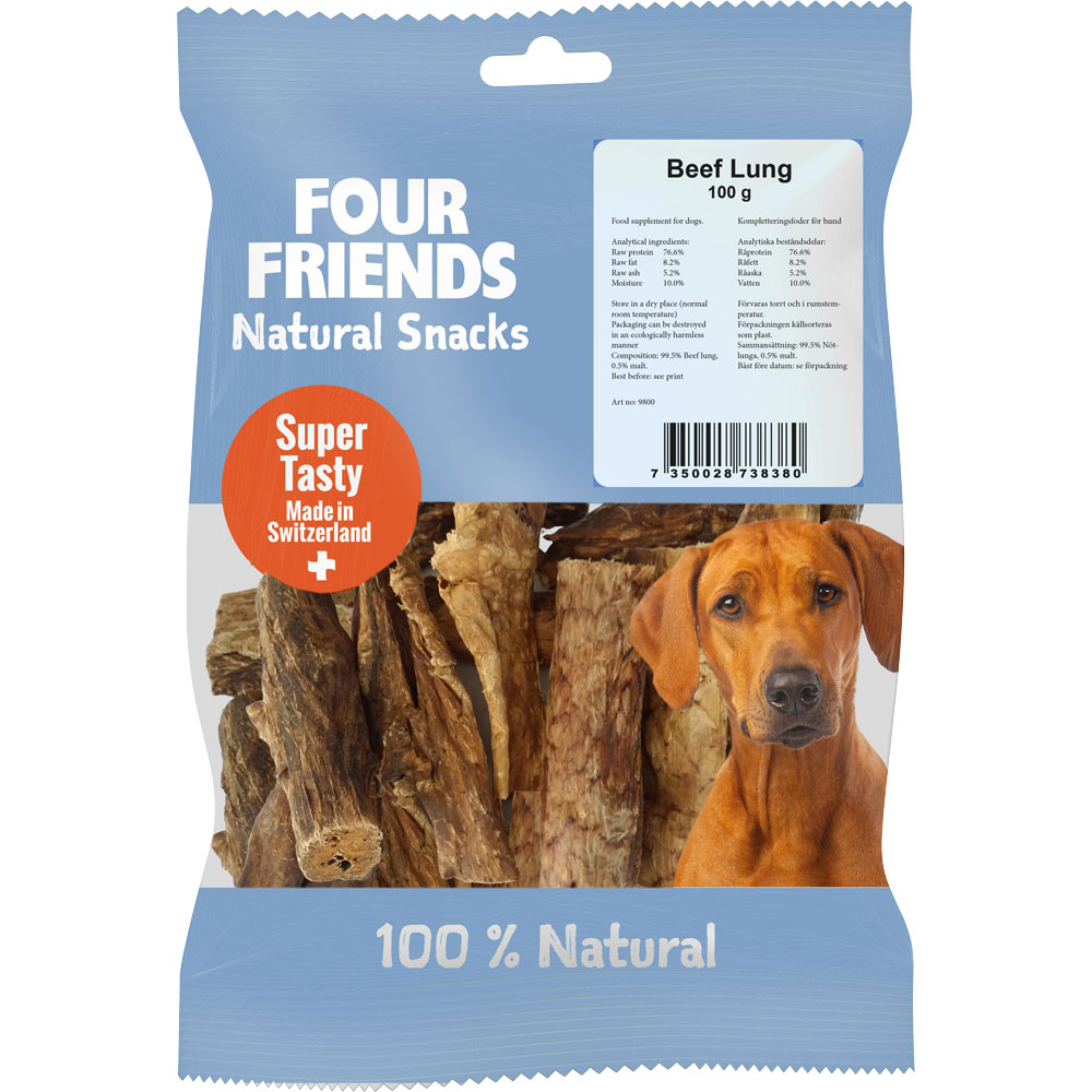 Naturgodbid  Beef Lung 100 g FourFriends