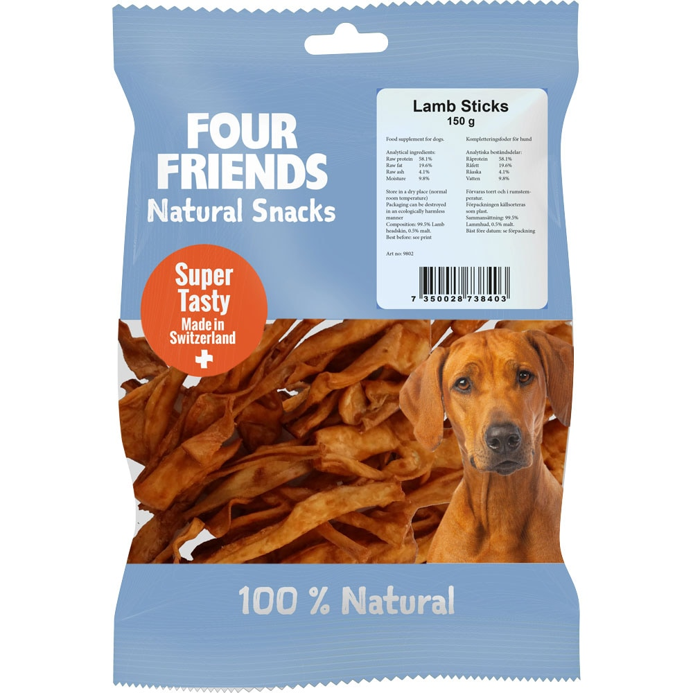 Naturgodbid  Lamb Sticks 150 g FourFriends
